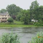 Pond behnd motel