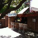 nice patio bar area