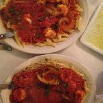 the large seafood pasta dishes