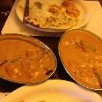 Chicken Tikka Masala on Left