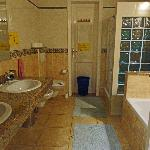 This is the large bathroom.