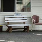 Seating provided outside each room
