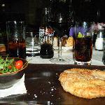 milanesa com salada de rucula