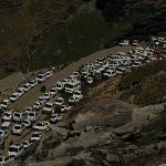 Traffic jam on return route of Rohtang pass at 9:30 AM! It was already 1 hr into jam and 2 more