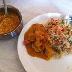 chicken masala with fried rice