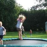 Trampoline and play marquee