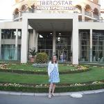 Me at the front of the hotel