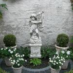 Statue in the courtyard