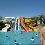 one of the waterslide pools