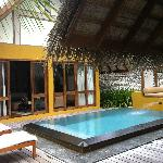 View from the outside with private pool