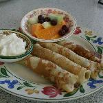 Russian Meat filled crepes