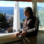 en la habitacion con vista al lago