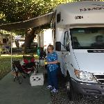Our site at Fresno Mobile Home and RV Park