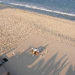 Preparations for dinner on the beach