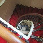 The staircase; our room was one floor up.