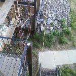 Scaffolding Outside Condo