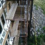 More scaffolding outside condo