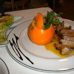 Duch breast with orange sauce