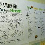 Tea and Health display