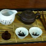 Tea set display