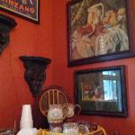 Art work in dining area