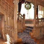 Grand stair with sitting lounge.