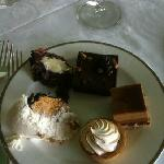 selection of brunch desserts