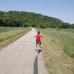 Biking the gorgeous landscape!