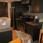 Kitchen - stainless appliances and granite! Fancy!