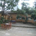 The back area of the relaxing dining courtyard