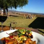 View from our table to the Barossa Ranges