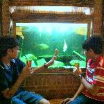 Rushil and Ilaaksh having Cranberry juice!