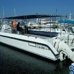 Our dive catamaran