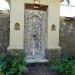 la porte d'entrée d une des villas individuelles