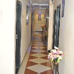 Corridor Inside Hotel Impex Residency