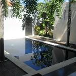 Our pool & entrance to Villa