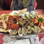 """plateau de fruits de mer """"une dose"""""""
