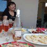 Rosella and her lovely aperativo food