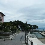 View to the Hotel Milenij from the pedestrian area by the sea