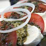 Tomato, Sweet Onion & Fresh Mozzarella Salad