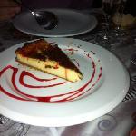 Warm goat cheesecake