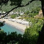 la plage vue du village