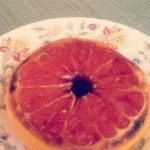 Broiled grapefruit brown sugar and honey