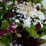 Cranberry goat cheese salad