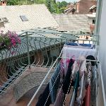 Air dry your clothes on the 2nd floor balcony