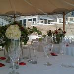 wedding set up at the b & B