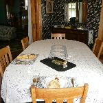 Table for 2! Dining room where breakfast is served.