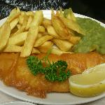 Special of the day Haddock and Chips