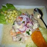 Ceviche de Camarones & Pescado ( Fish & Shrimp Ceviche)