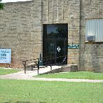 Gene Autry Museum Entrance on left side of building. Post Office is on the right side of buildi